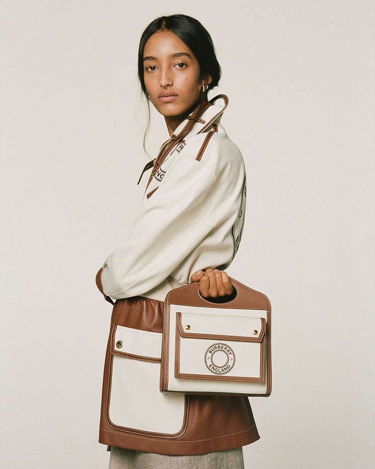 Burberry's Oh-So-Chic Canvas Reiteration Of Its Signature Handbags