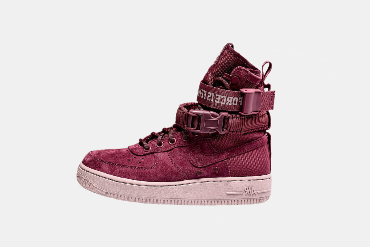 """factory price 73134 df311 With enough booziness to match your festive exploits, Nike s hyped high-top  Air Force 1 sees yet another wine colorway. In contrast to the patent """"Port  ..."""